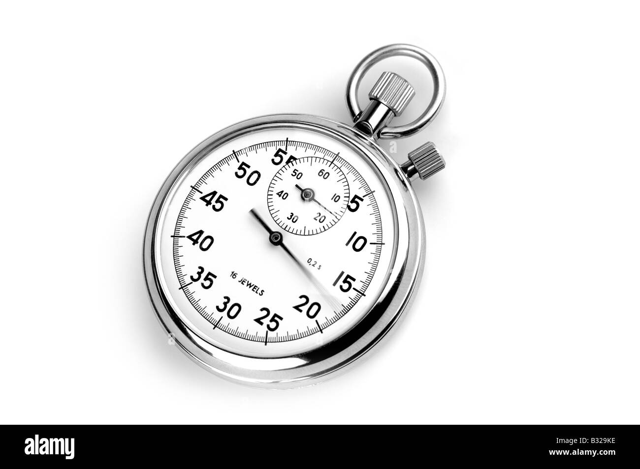 ANALOGUE STOP WATCH CUT OUT - Stock Image