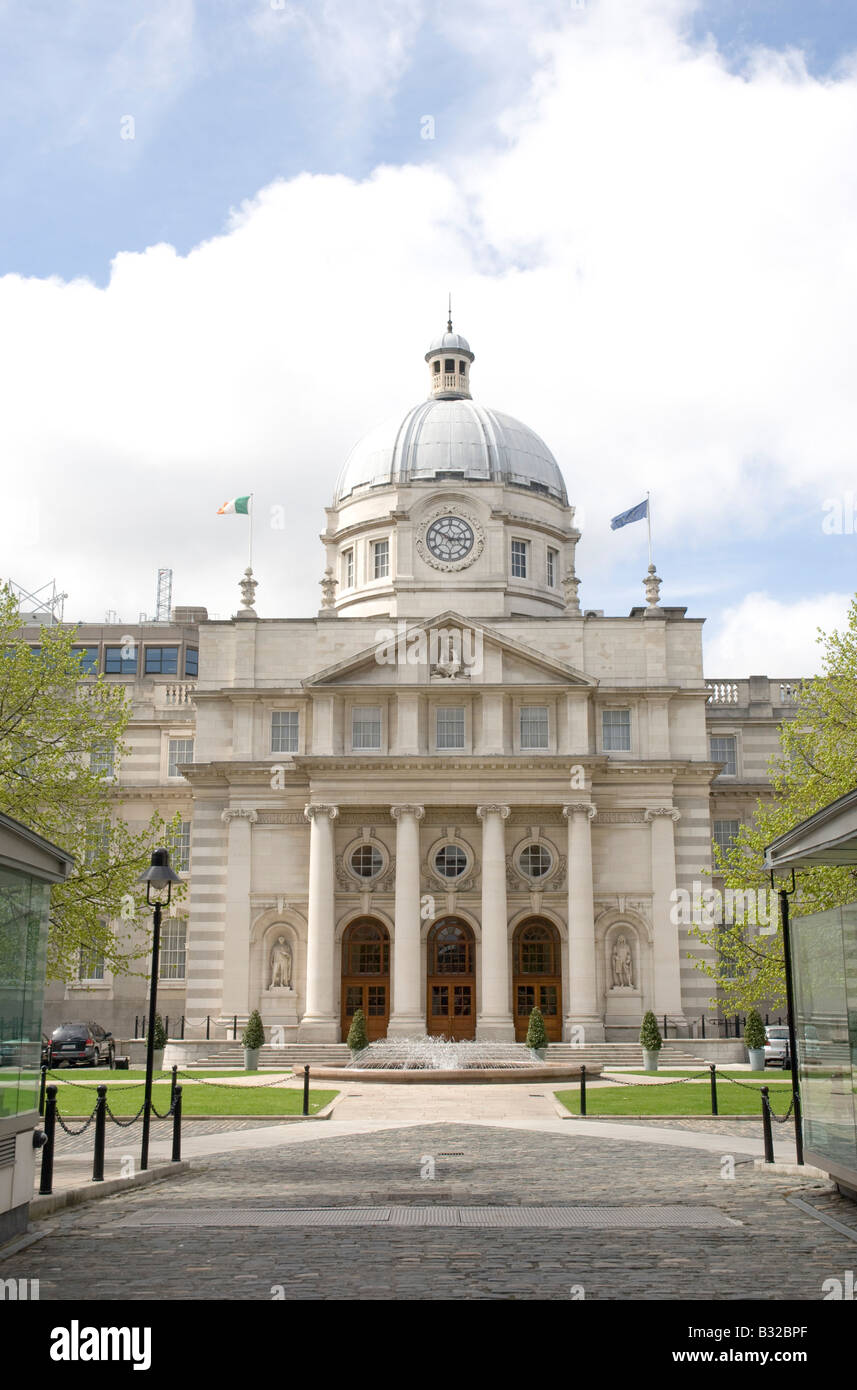 The Office of the Taoiseach government building in Dublin Ireland Stock Photo