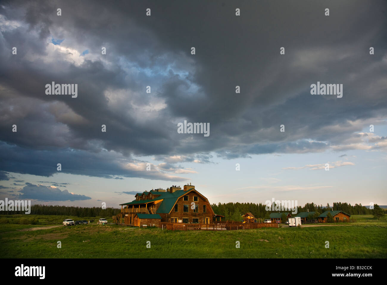 The BAR N RANCH is a guest ranch with fine food and accommodations WEST YELLOWSTONE MONTANA - Stock Image