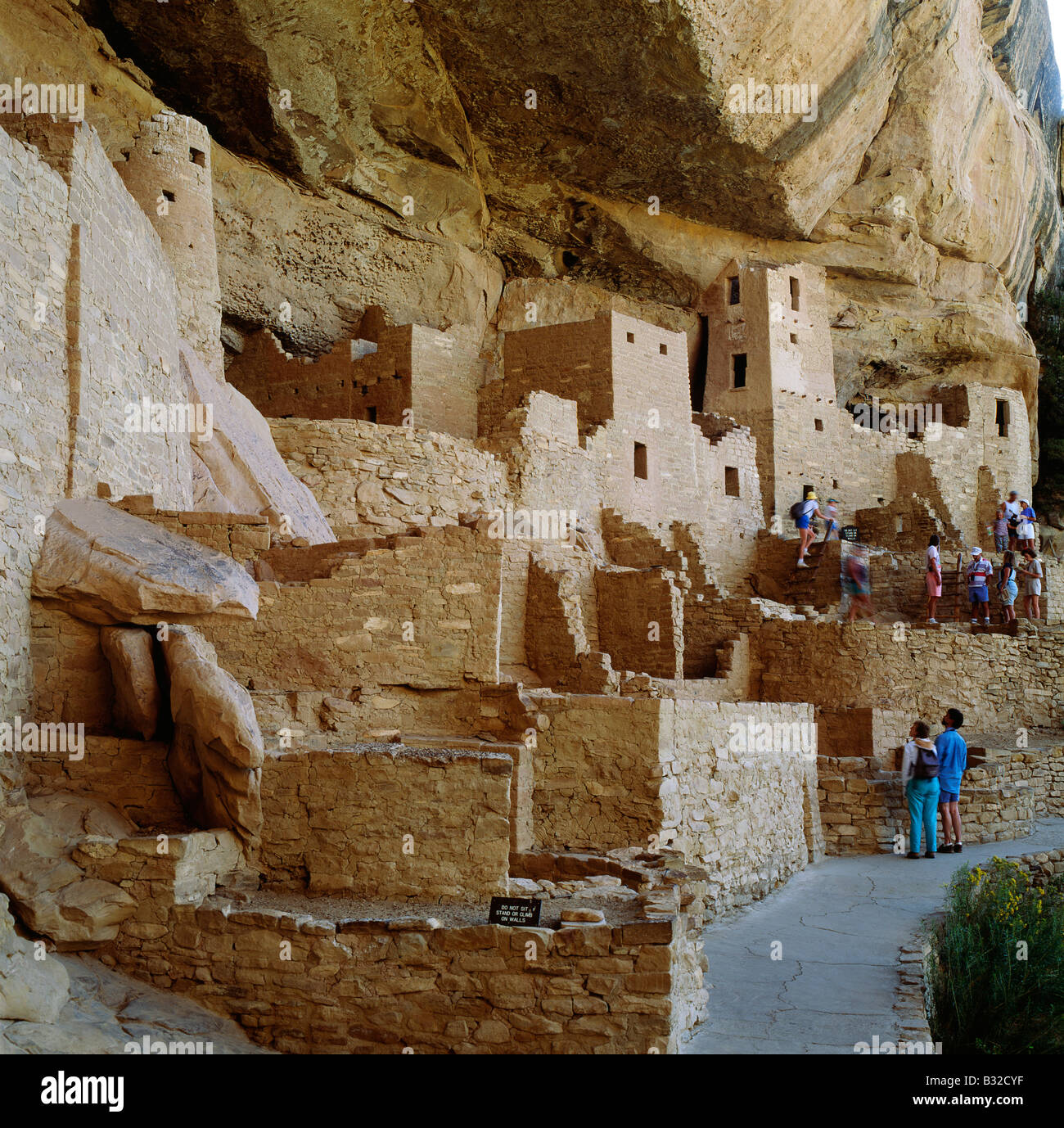 CLIFF PALACE, THE LARGEST ANASAZI CLIFF DWELLING IN MESA VERDE NATIONAL PARK, NEW MEXICO, USA - Stock Image