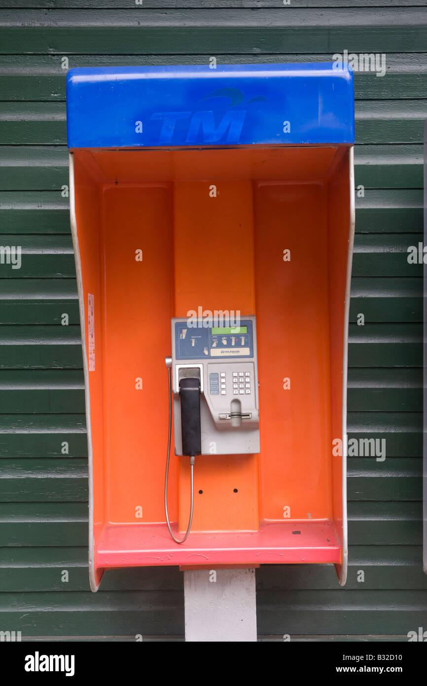 Telephone kiosk Borneo Stock Photo