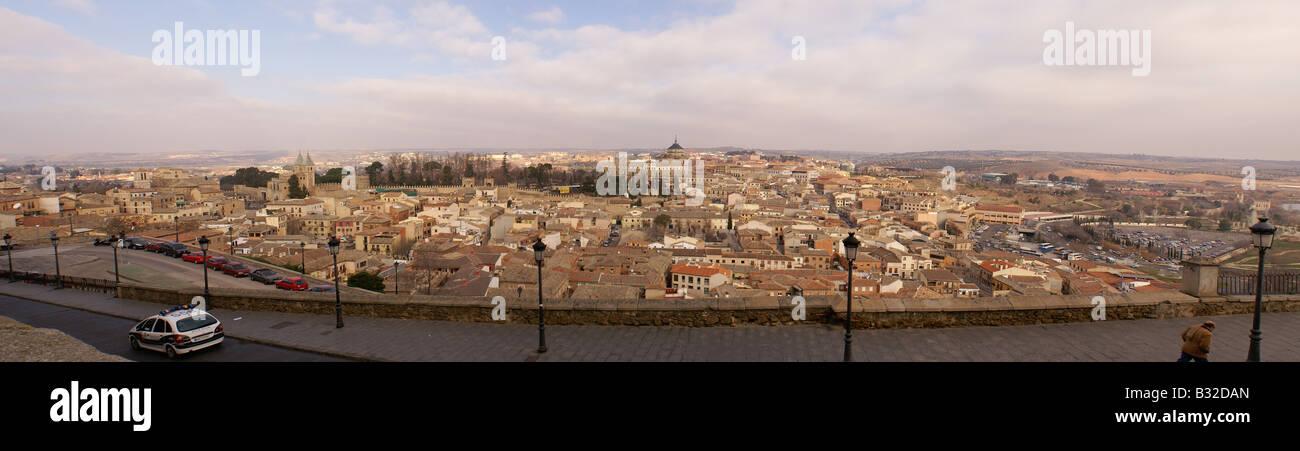 panoramic view of Toledo, Spain Stock Photo