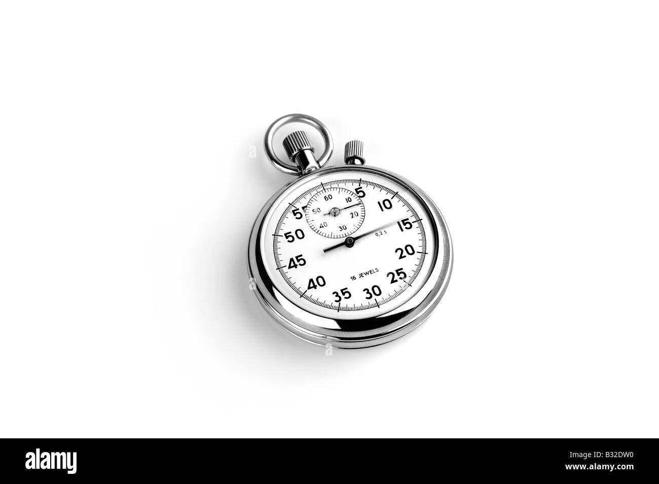 CUT OUT OF AN ANALOGUE STOP WATCH - Stock Image
