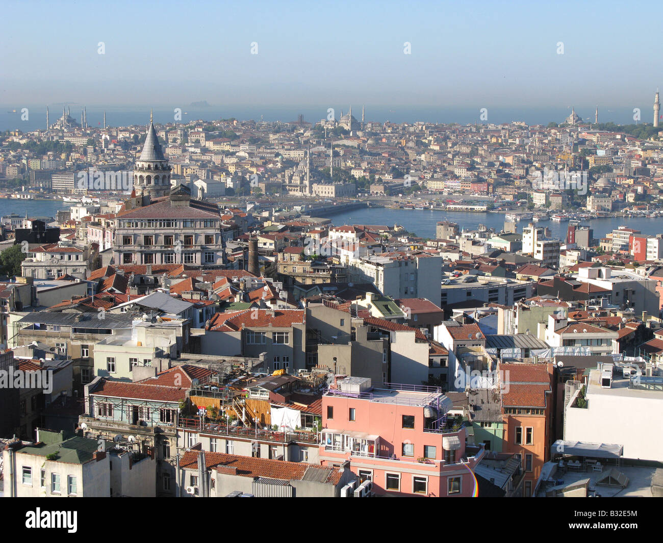 ISTANBUL. View over the Pera and Galata districts of Beyoglu towards the Golden Horn and the bazaar area of the - Stock Image