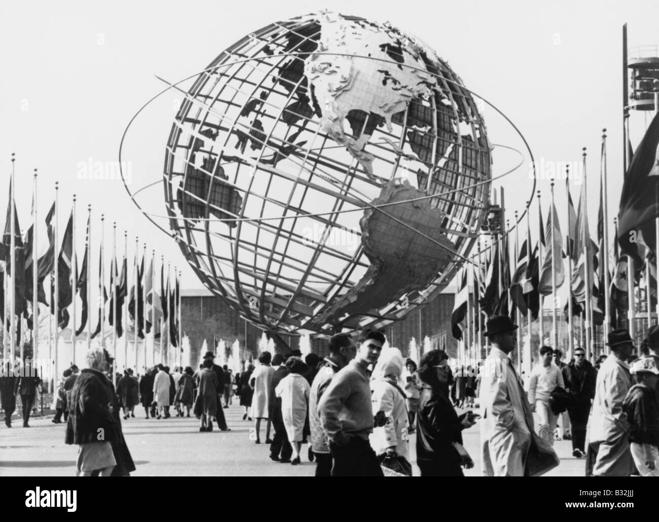 The Unisphere, symbol of the New York 1964-65 World's Fair. Flushing Meadow Park, New York - Stock Image