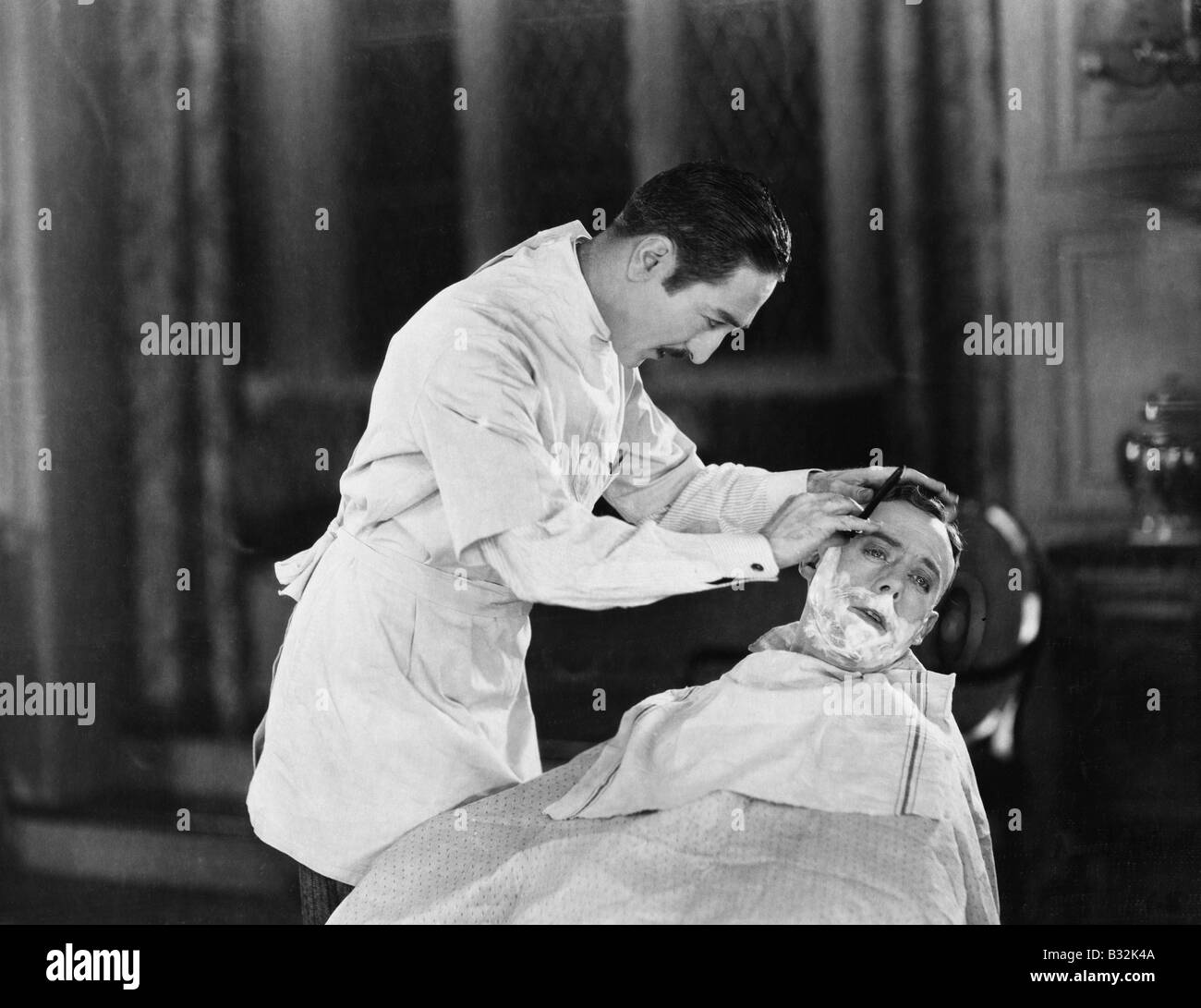 An expert at close shaves - Stock Image
