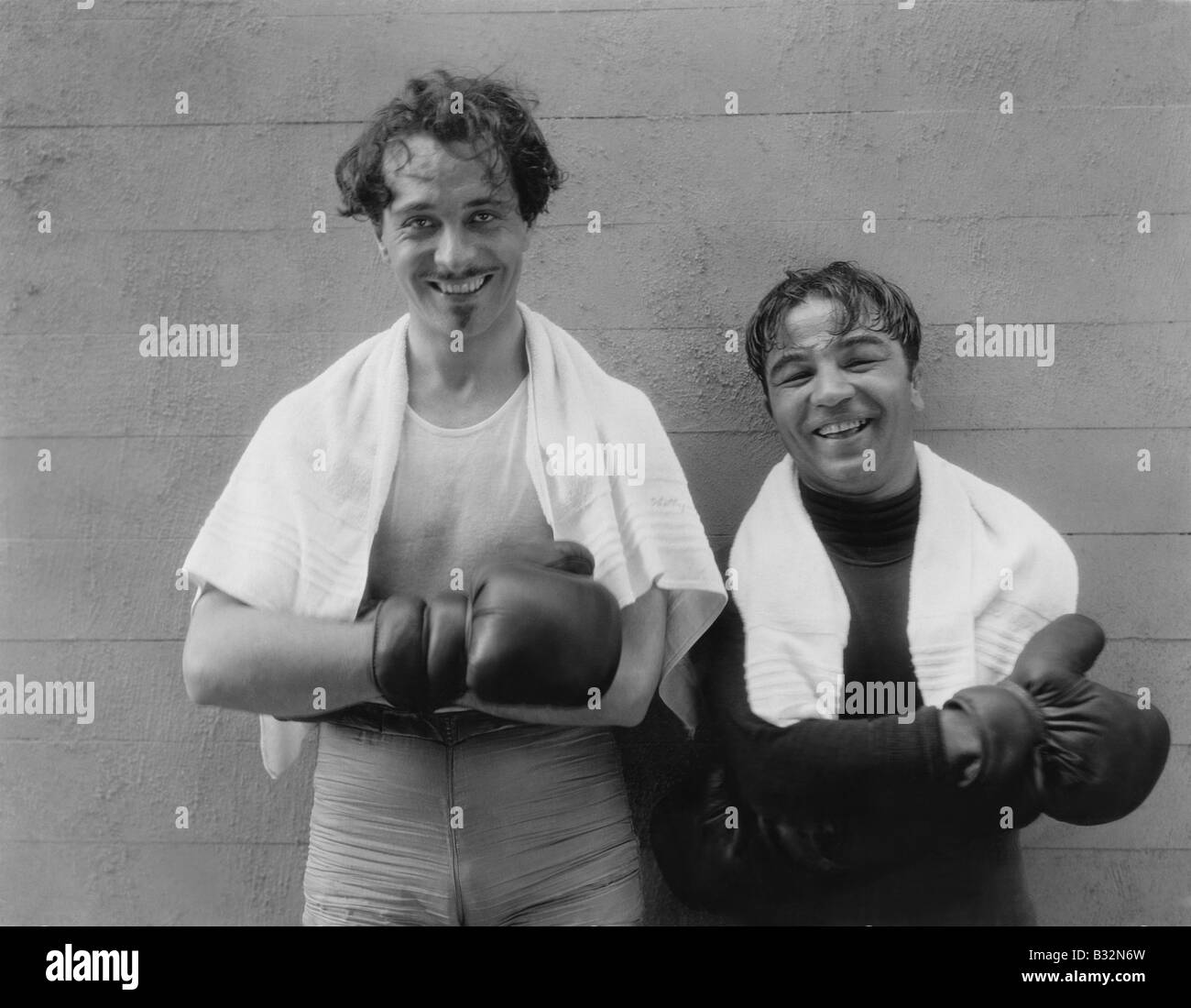 Portrait of two boxers - Stock Image