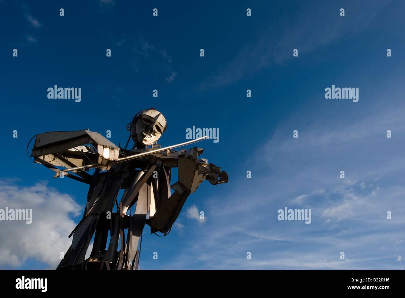 Let The Dance Begin Sculpture Strabane Derry Northern Ireland - Stock Image