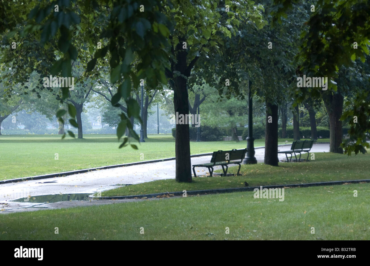 John Fitzgerald Kennedy Park in Harvard, Cambridge, Massachusetts, USA - Stock Image