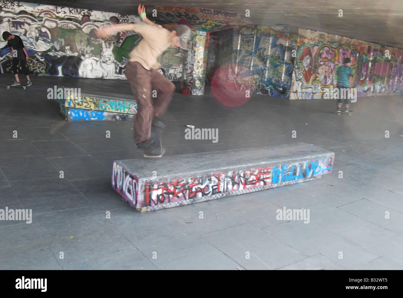 Skateboard skater Graffiti - Stock Image