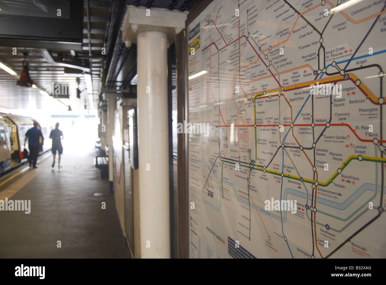 London Underground station platform tube map Arnos
