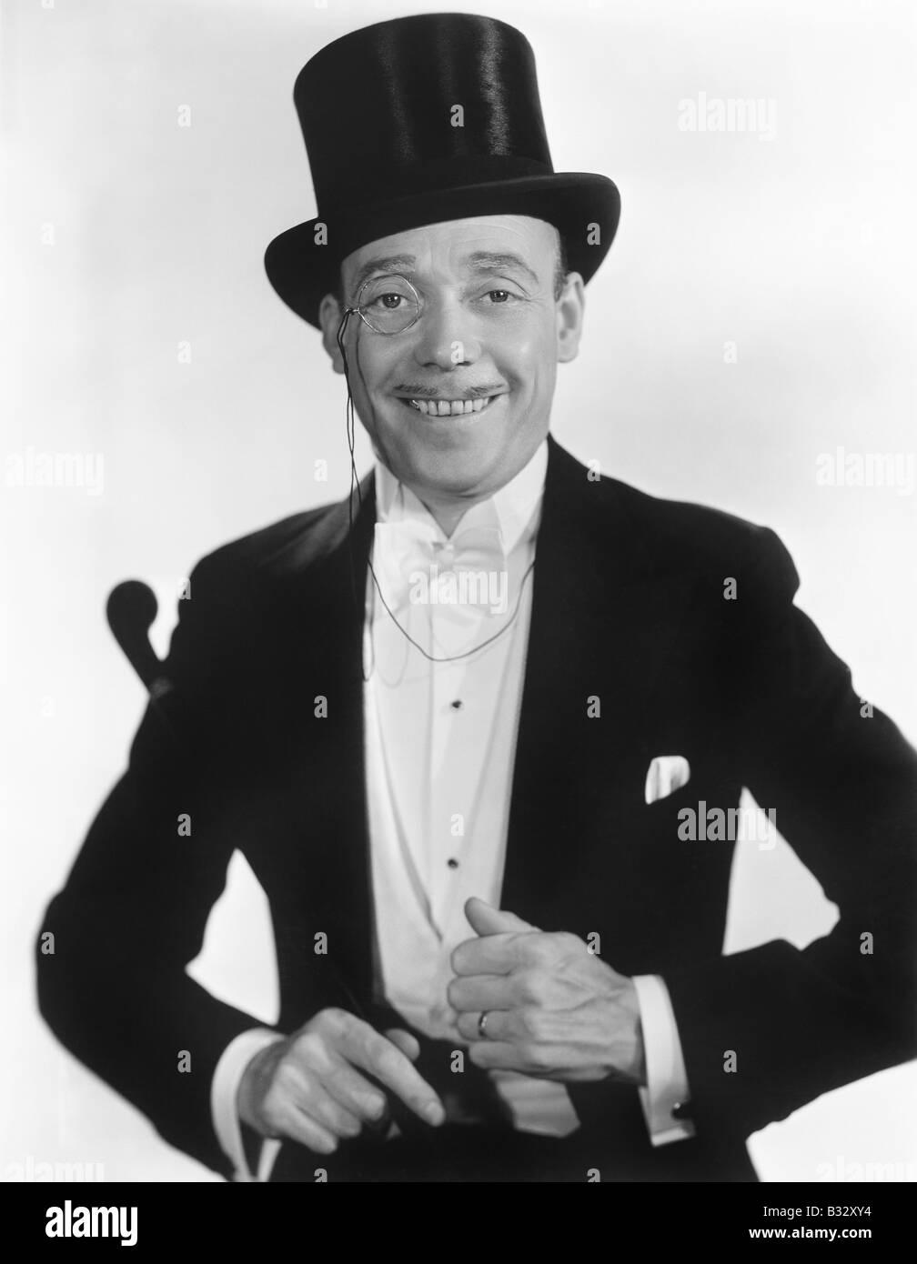 Portrait of a man in formal attire - Stock Image