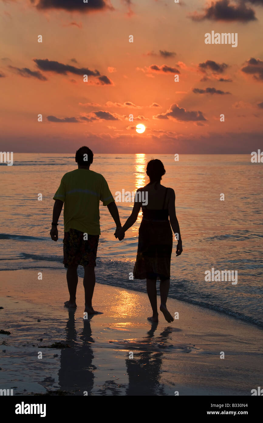 sunset at the sea - Stock Image