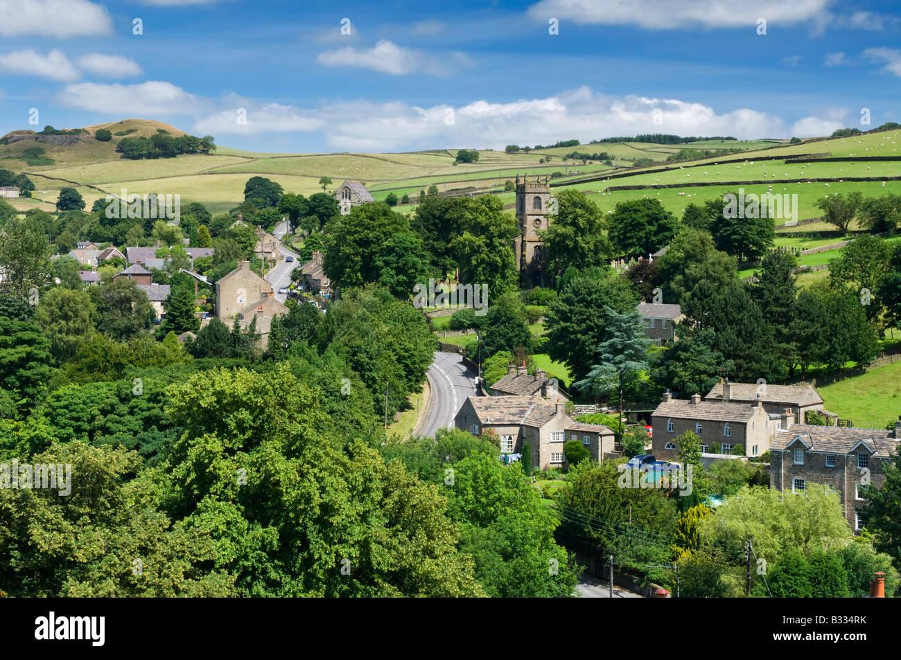 Village of Rainow in Summer, Peak District National Park, Cheshire, England, UK - Stock Image