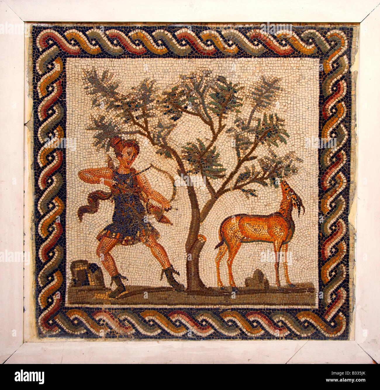 Mosaic in the Bardo Museum, Tunis, Tunisia, North Africa Stock Photo
