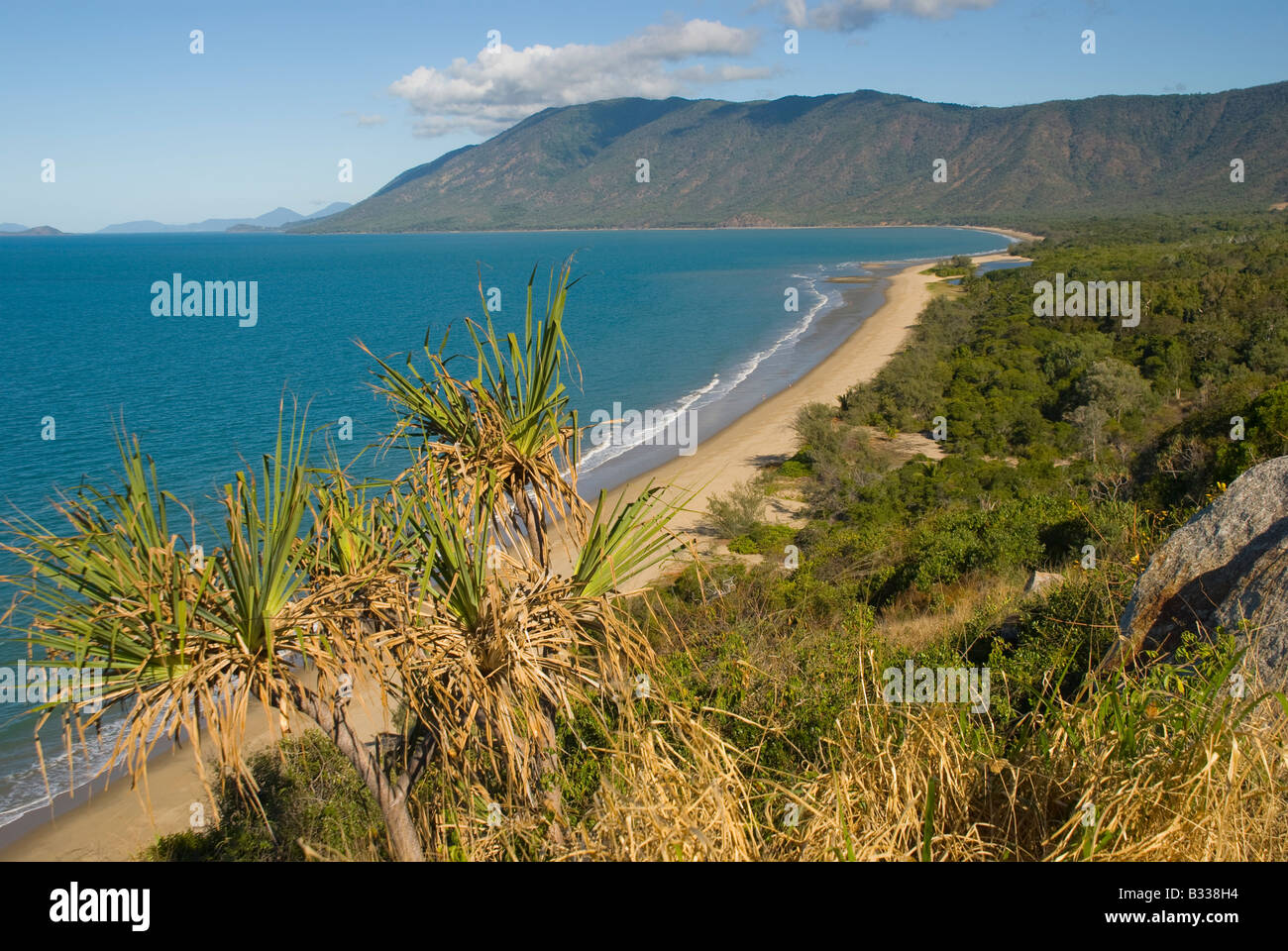 Queensland coastline near Port Douglas Australia - Stock Image