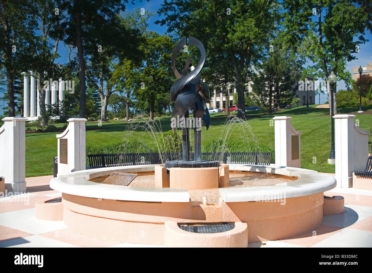 Westminster College Davidson Leadership Plaza - Stock Image