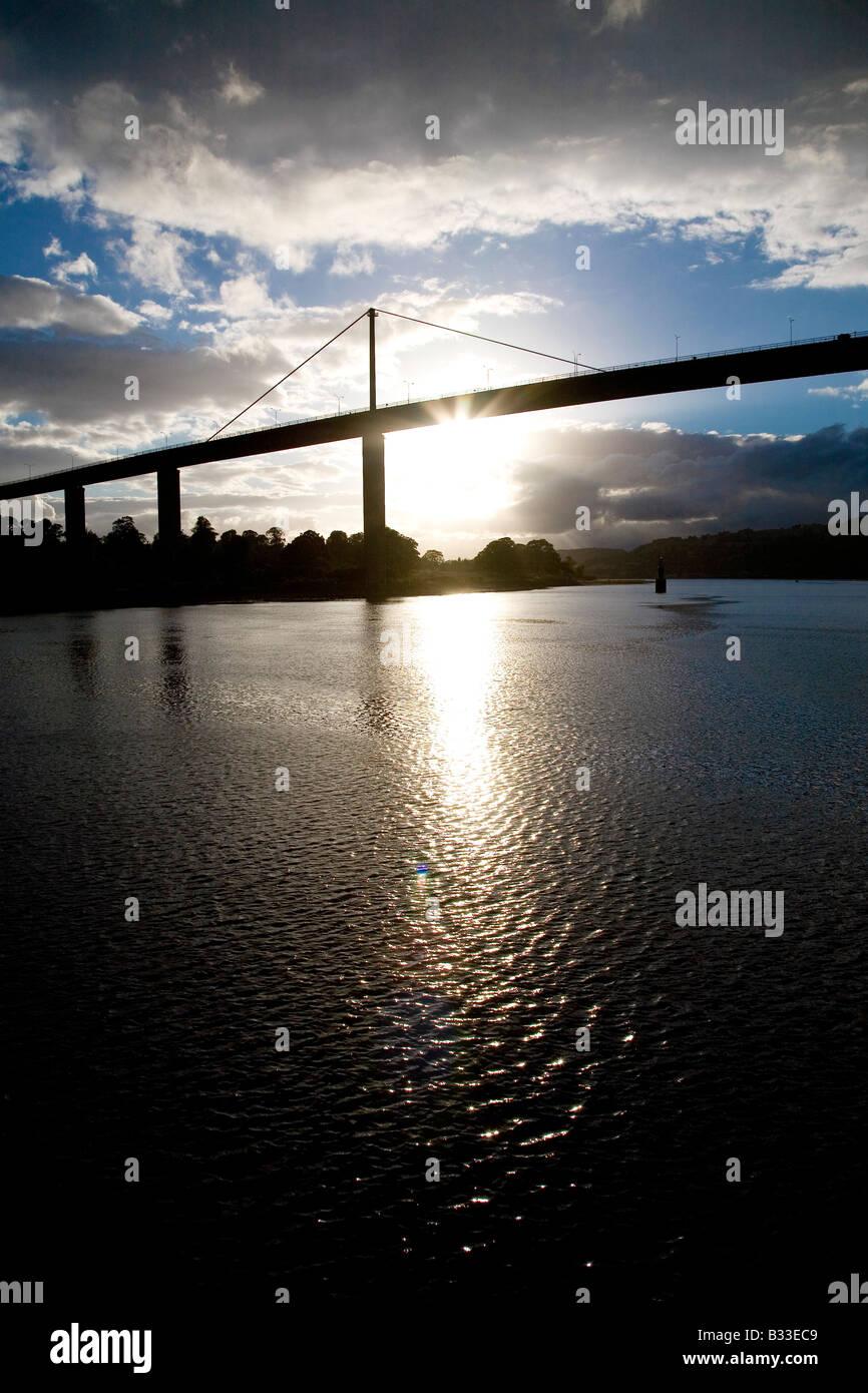 Erskine Bridge at Sunset Stock Photo
