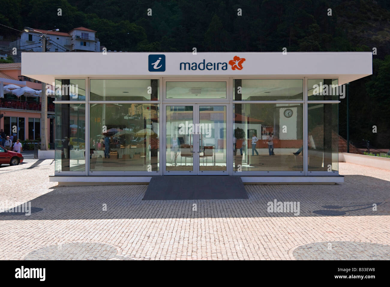 Madeira Travel Information Point - Stock Image