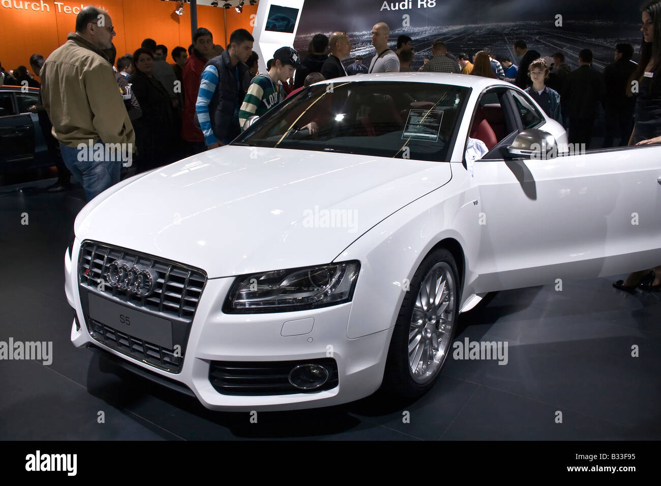 Audi S5 at Zagreb Auto Show in Croatia from 28.3. 2008. - 06. 04. 2008. - Stock Image