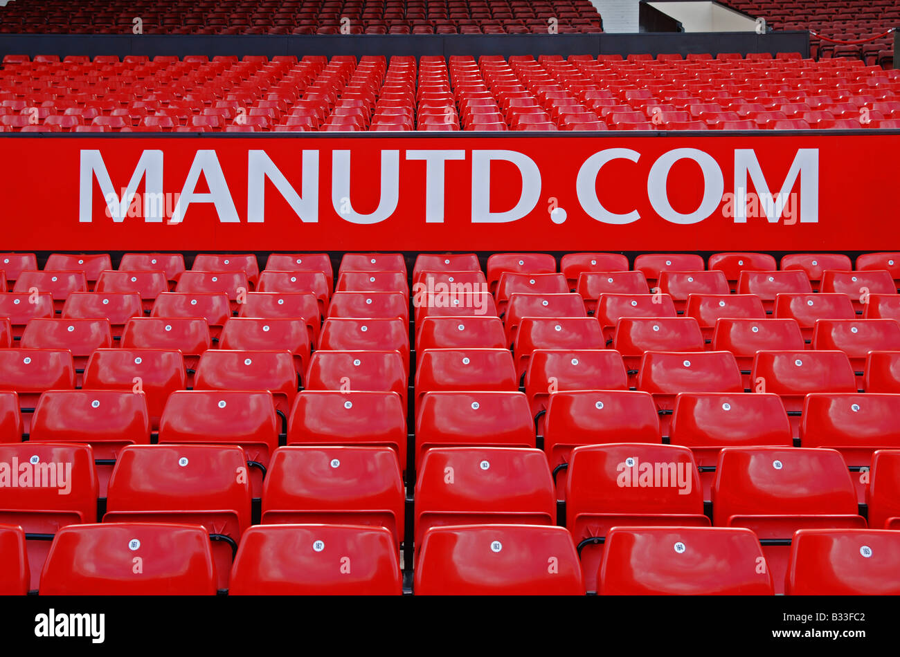 seating at old trafford,manchester,uk - Stock Image