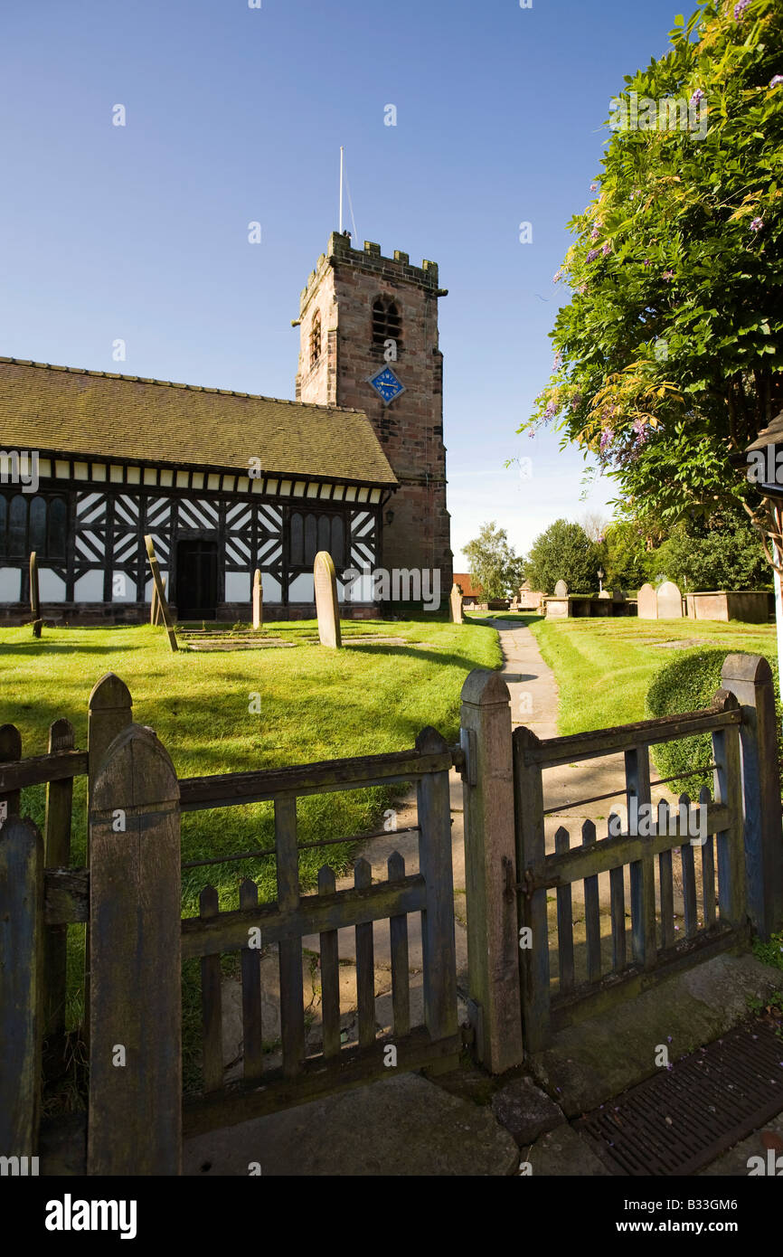 UK Cheshire Knutsford Lower Peover St Oswalds Church Stock Photo