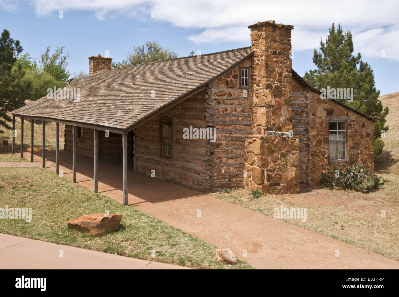 Texas Lubbock National Ranching Heritage Center Hedwig s Hill Dogtrot House circa 1855 1856 Stock Photo