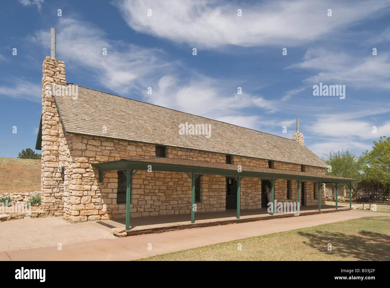 Texas Lubbock National Ranching Heritage Center Las Escarbadas Stock Photo