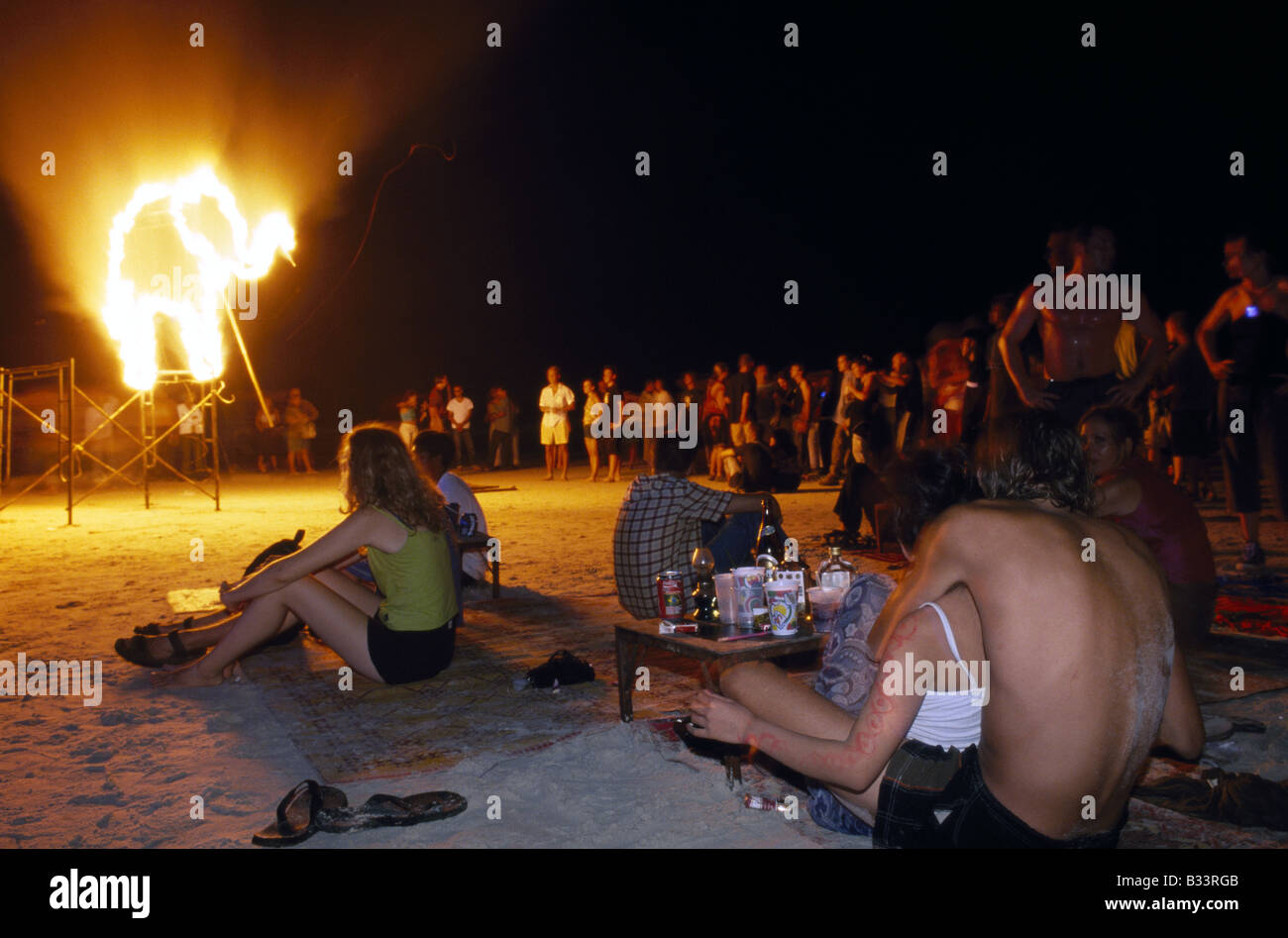 Full Moon Party Ko Pha Ngan Thailand - Stock Image
