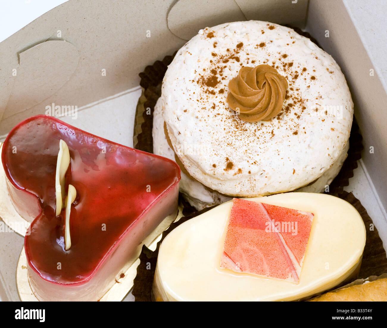 fancy cakes box - Stock Image