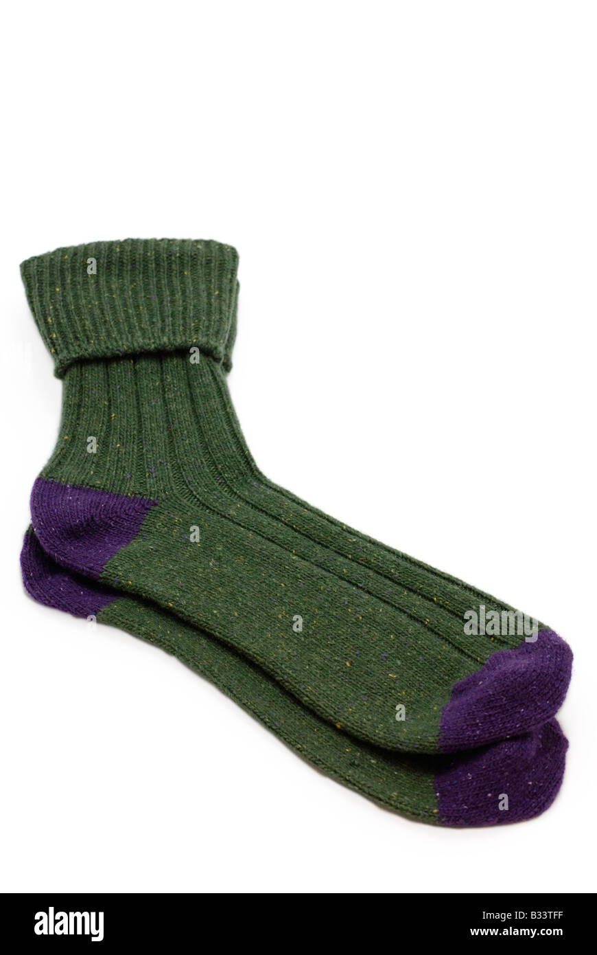 Pair of Woolen Winter Socks - Stock Image