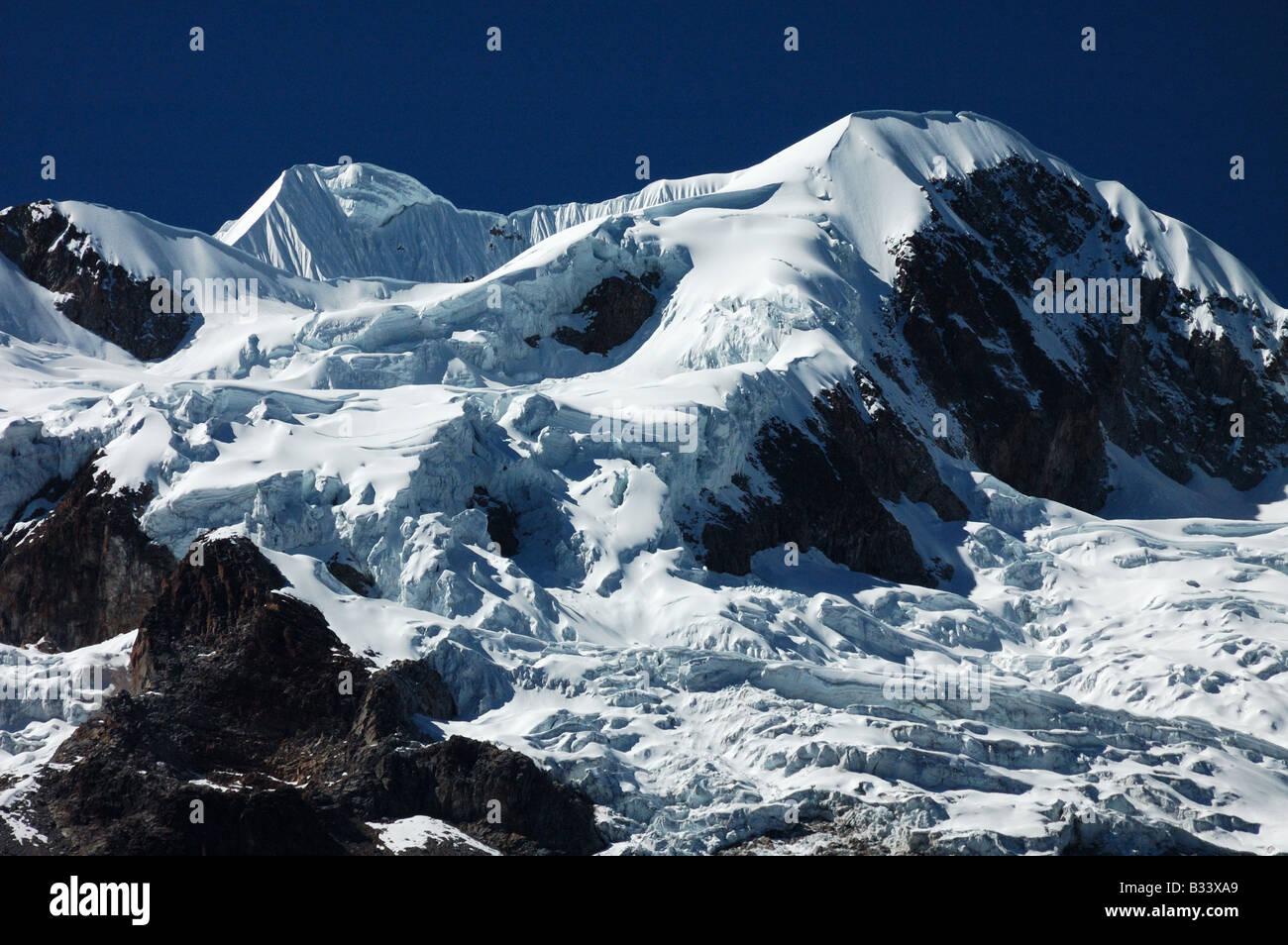 Mt Illampu 6368m Bolivia South America - Stock Image