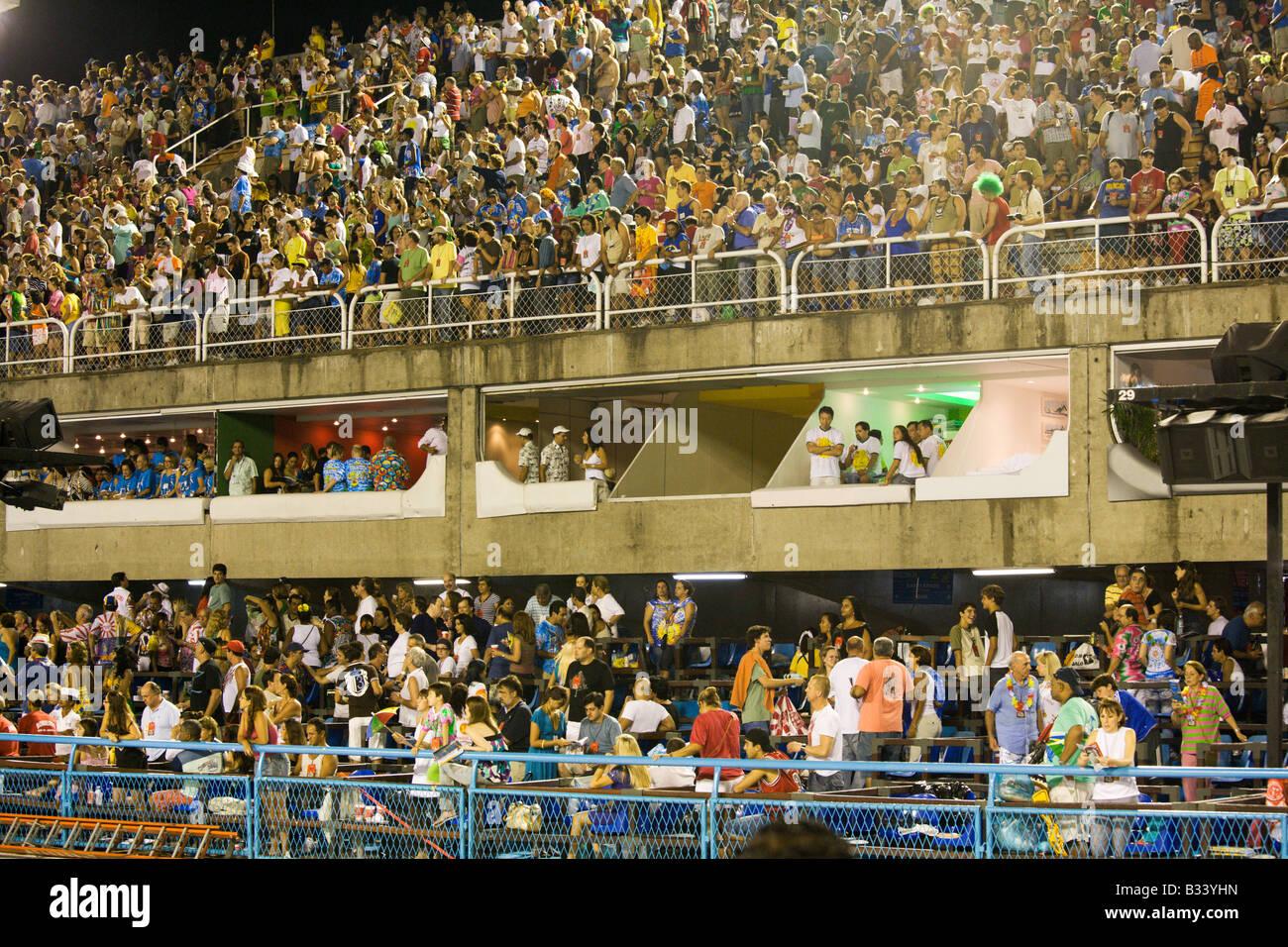The world famous Carnaval parade at the Sambodromo Rio de Janeiro Brazil - Stock Image