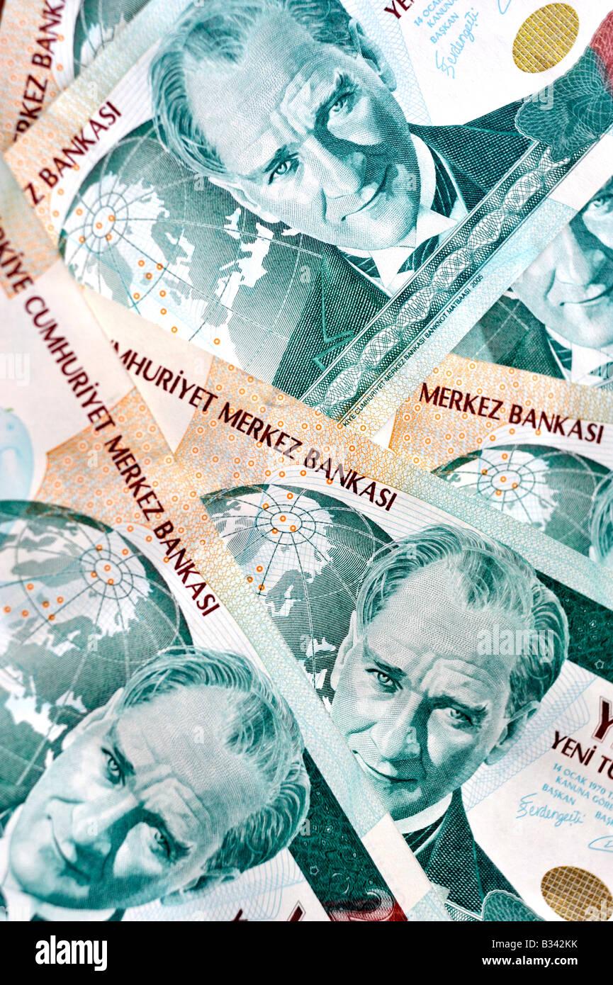 Turkish paper money Stock Photo