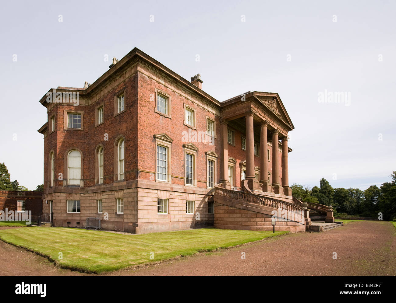 UK Cheshire Knutsford Tabley House 18th century mansion designed by John Carr of York 1769 - Stock Image