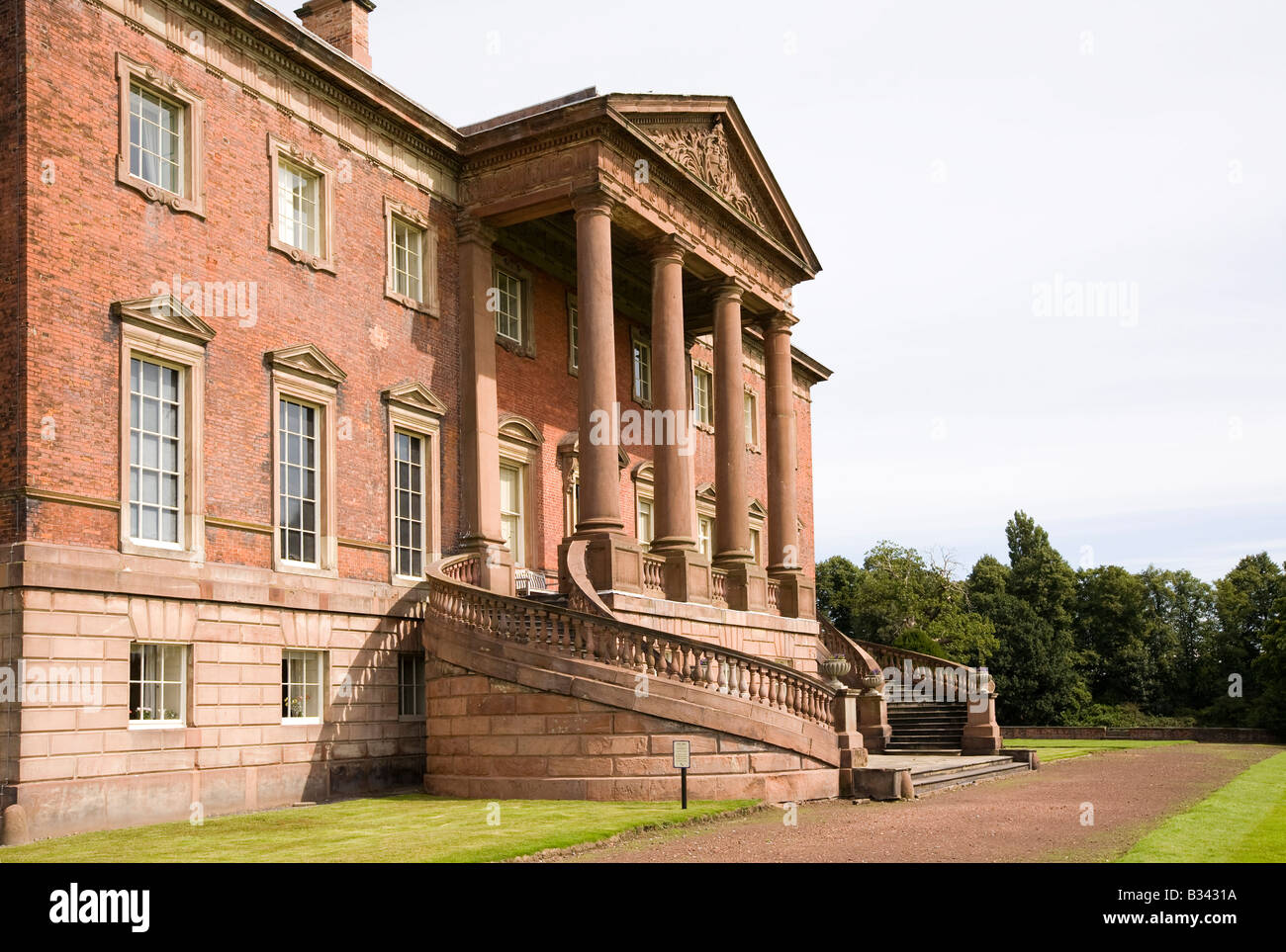 UK Cheshire Knutsford Tabley House 18th csntury mansion designed by John Carr of York 1769 - Stock Image