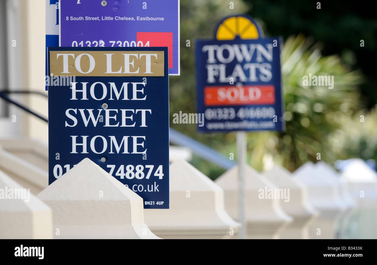 Home Sweet home: property for sale on the South Coast of England in Eastbourne. - Stock Image