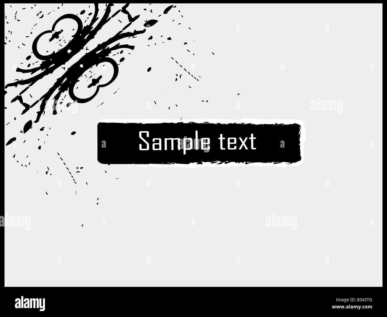 swirly design with text template stock photo 19145184 alamy