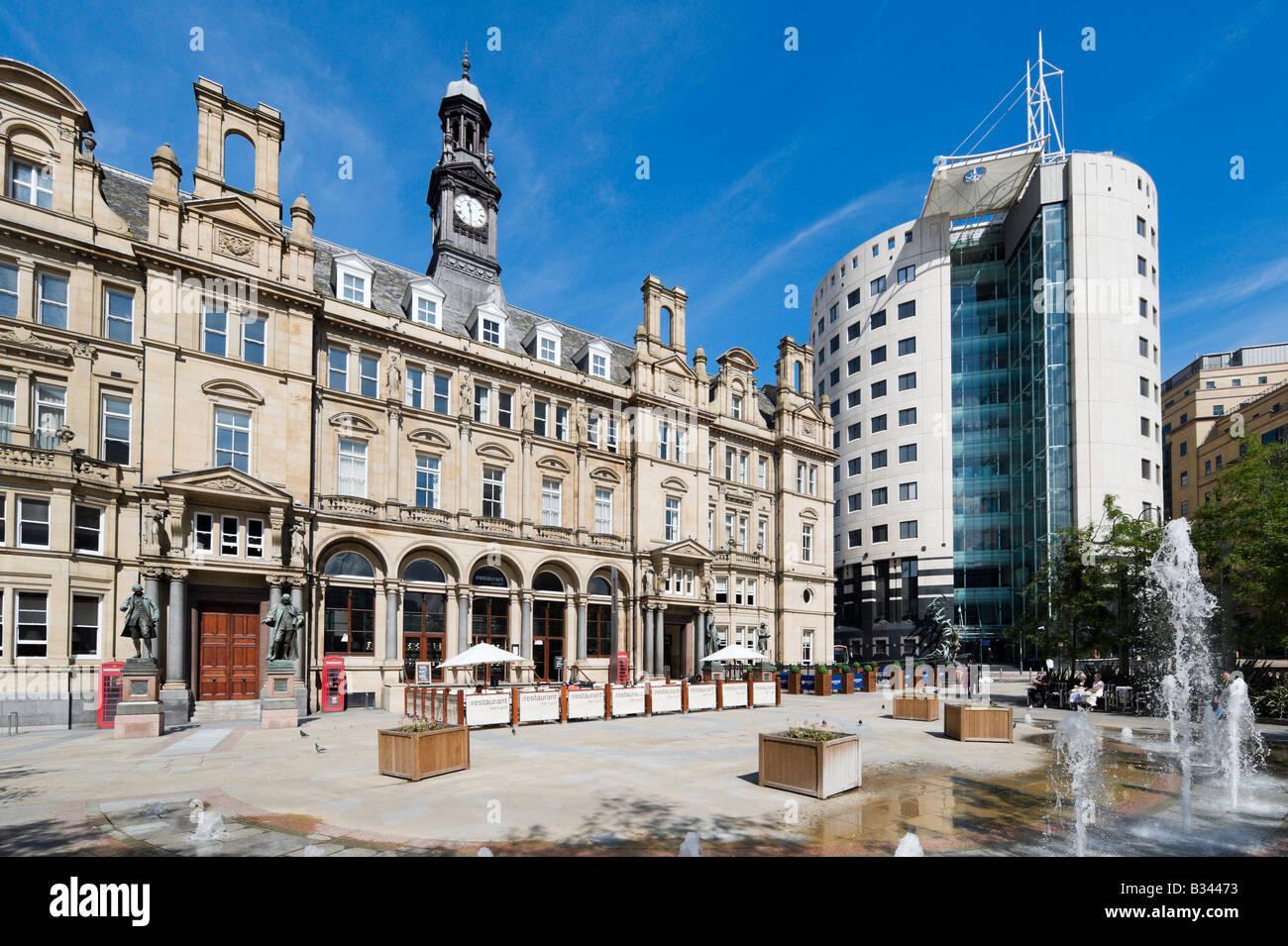The Old Post Office containing The Restaurant Bar and Grill, City Square, Leeds, West Yorkshire, England - Stock Image