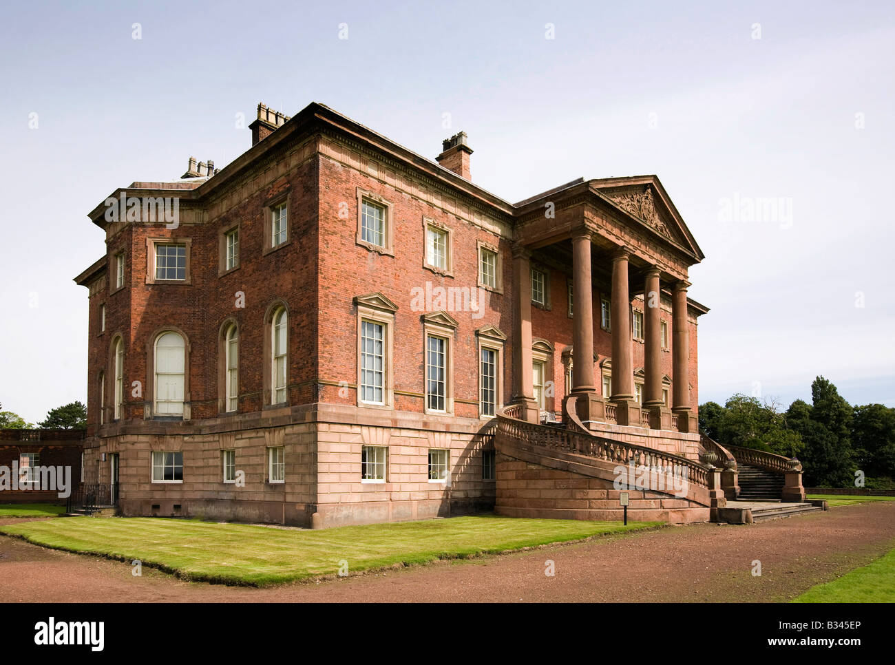 UK Cheshire Knutsford Tabley House 19th csntury mansion designd by John Carr of York 1769 - Stock Image