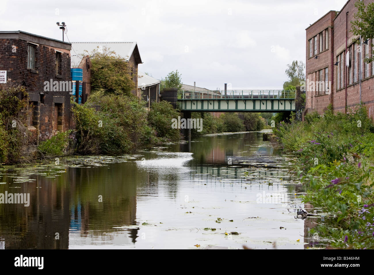 Sheffield and Tinsley Canal featured in the film The Full Monty - Stock Image