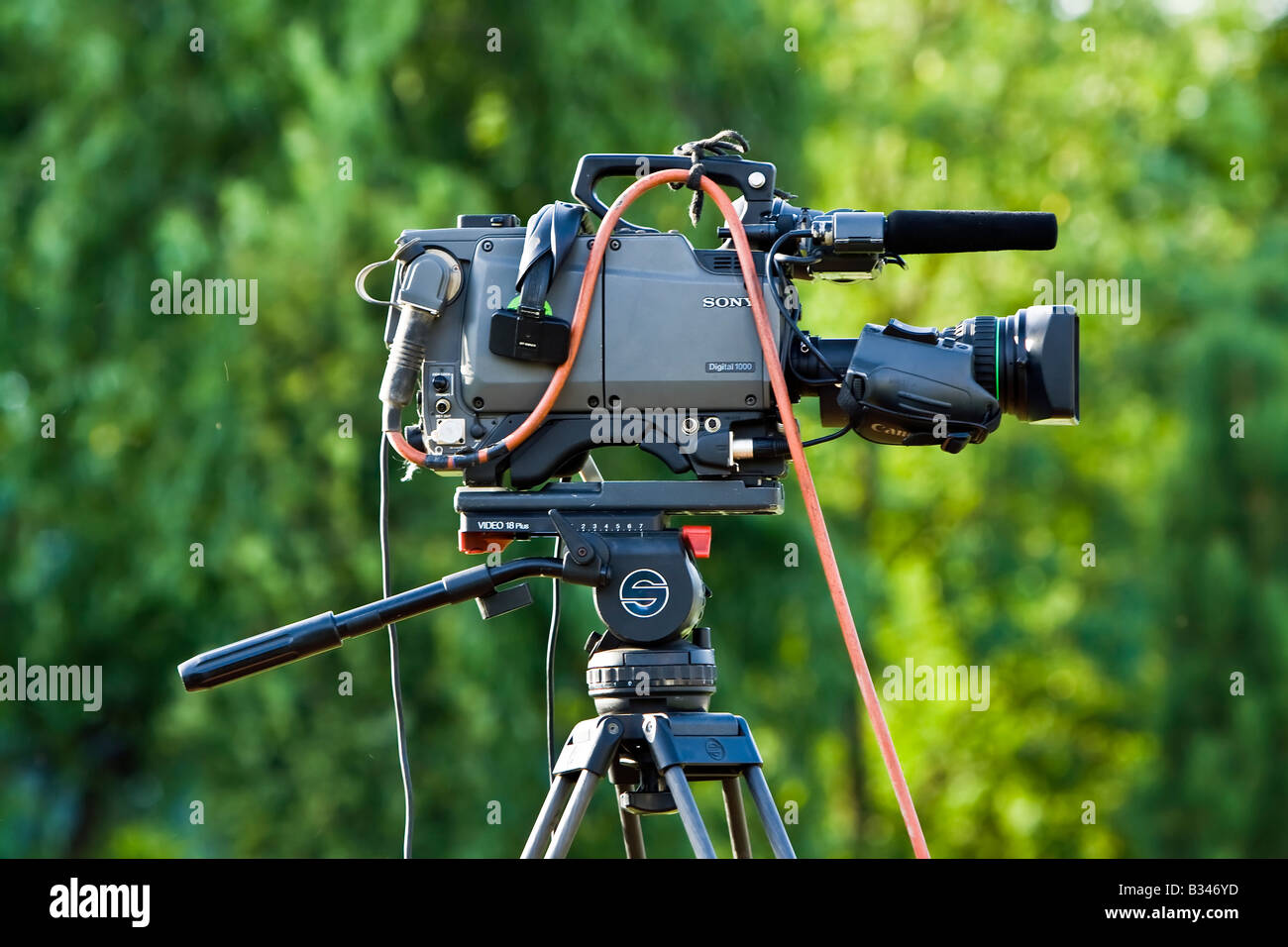 professional tv news camera - Stock Image