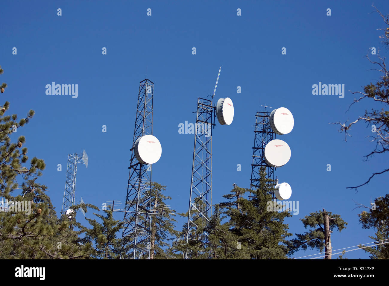 One of the many communication towers scattered across the world Stock Photo