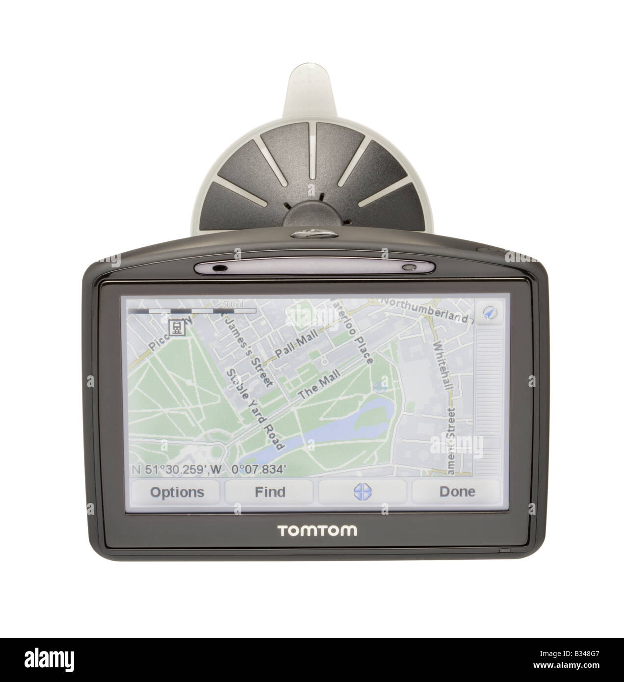 TomTom satellite navigation aid - Stock Image