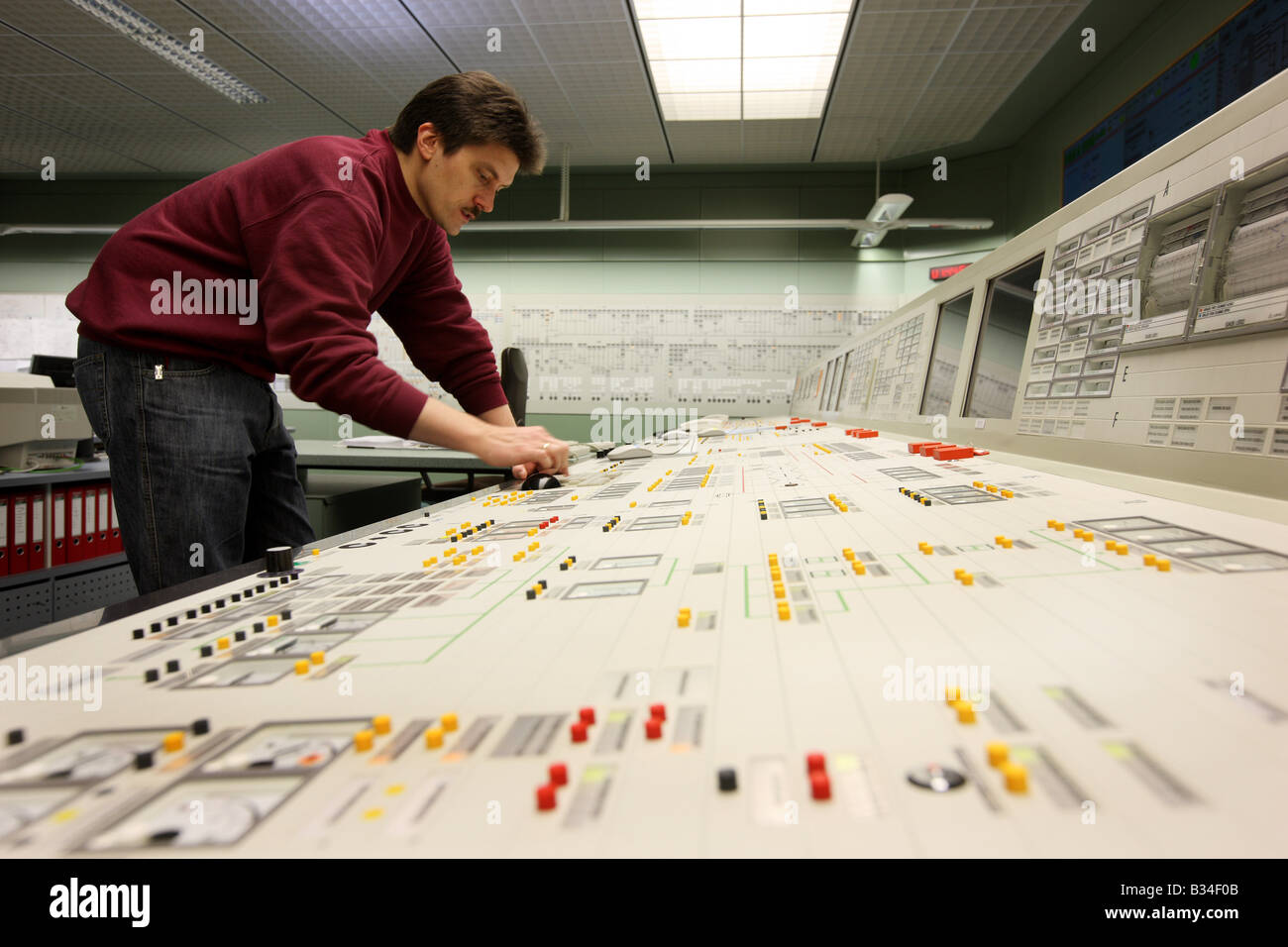 Simulator center for nuclear power stations, training facility for power station staff. Essen, Germany Stock Photo