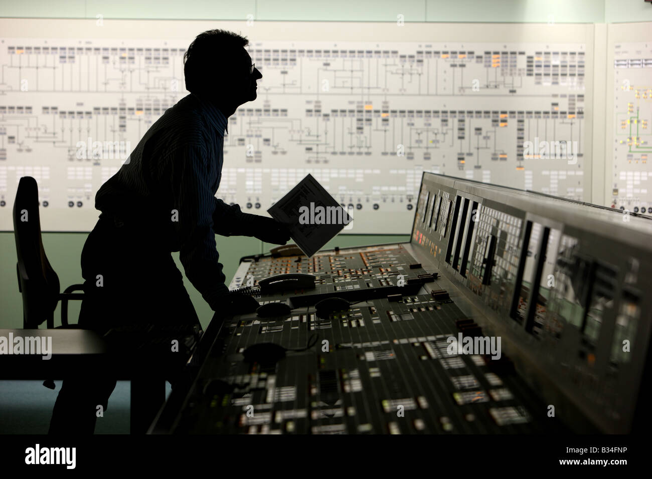 Simulator center for nuclear power stations, training facility for power station staff. Essen, Germany - Stock Image