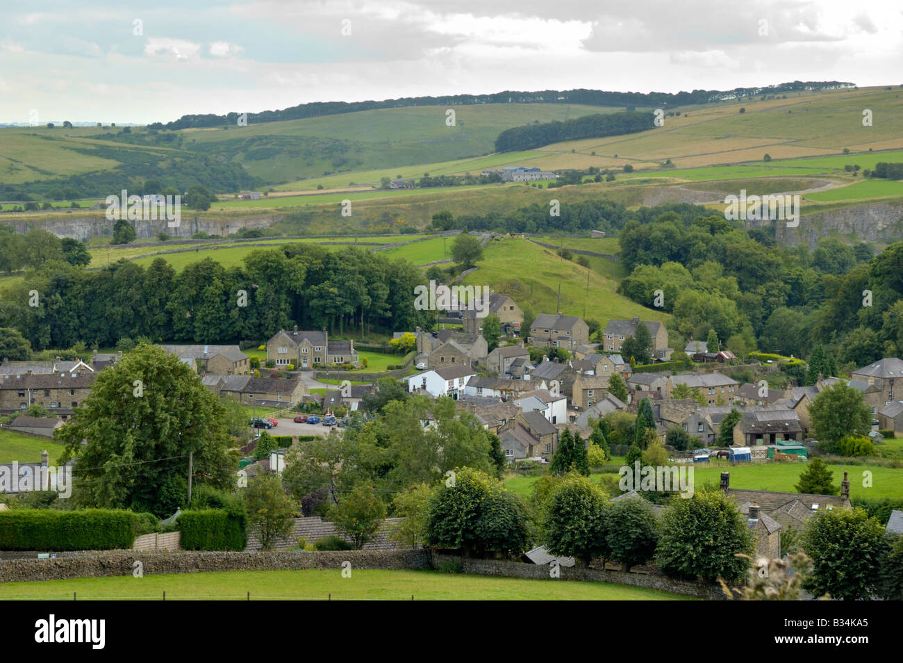 The Plague village of Eyam, Derbyshire, England - Stock Image