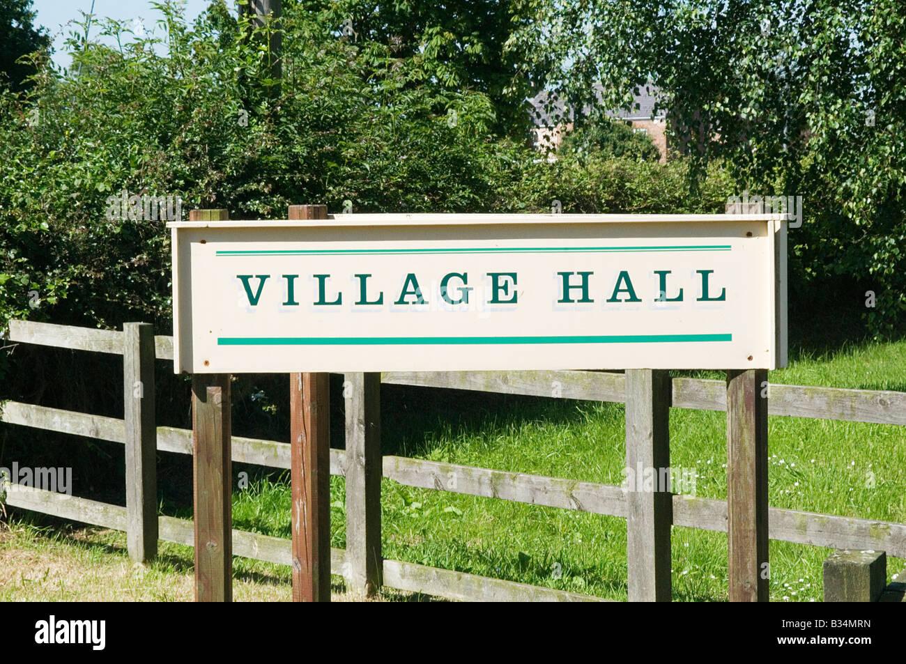 village hall english meeting place village life - Stock Image