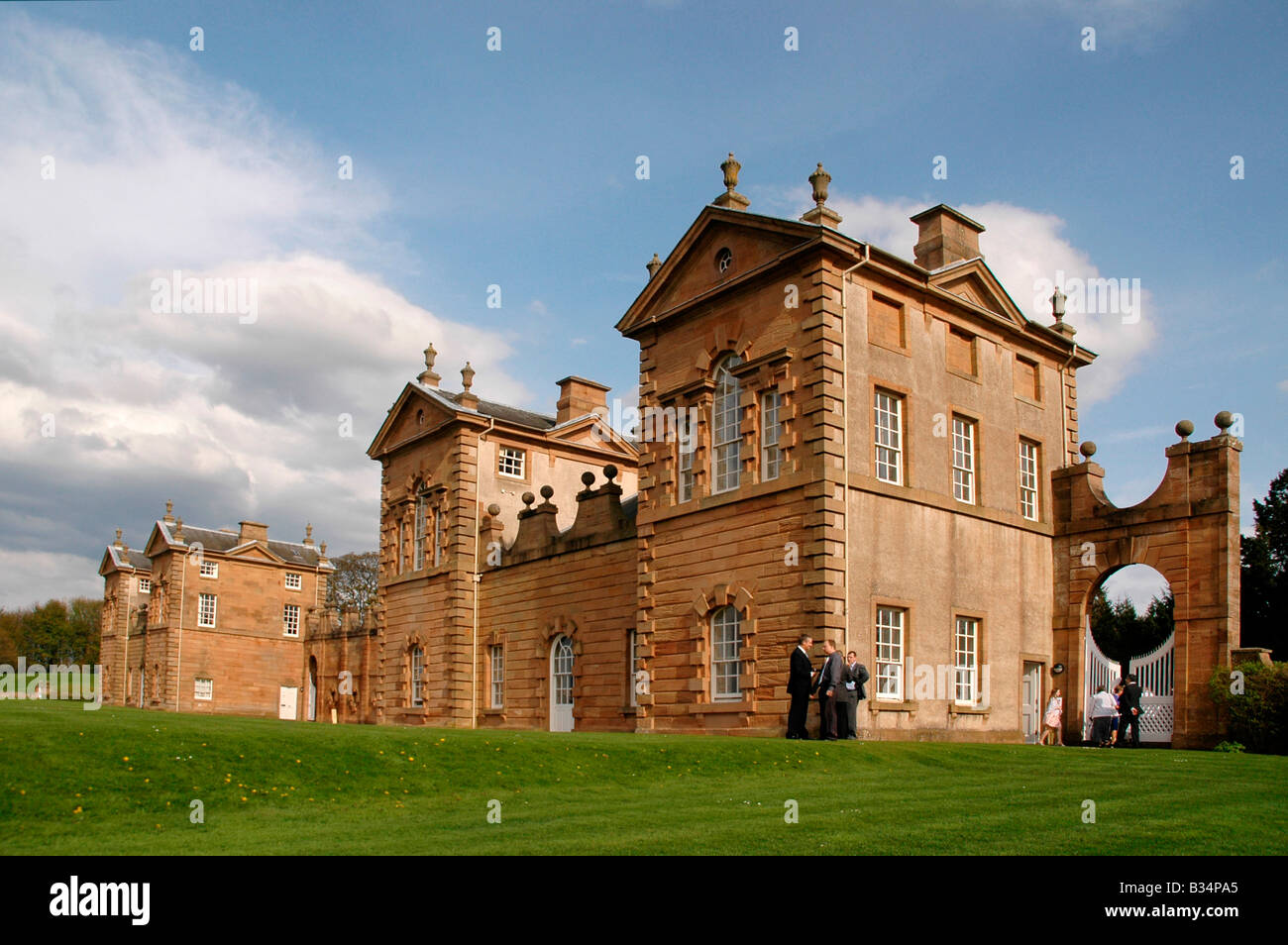 Chatelherault Hunting Lodge, Hamilton. Scotland. Designed by the famous Scottish architect William Adam. - Stock Image