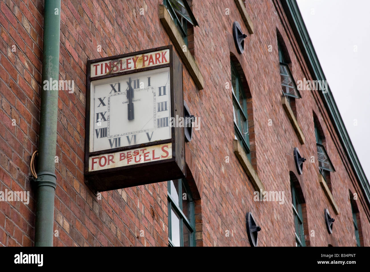 Clock on building Victoria Quay Sheffield, South Yorkshire - Stock Image